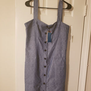 Denim jean dress.